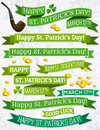 Set of ribbon for st patricks day vector illustration Stock Photography