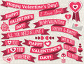 Set of ribbon valentines design vector illustration Royalty Free Stock Photos
