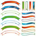 Set of ribbons Stock Photography
