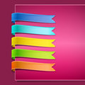Set of ribbons Royalty Free Stock Photo