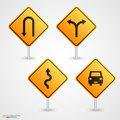 Set road sign Royalty Free Stock Photo