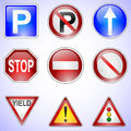 Set of road signs vector Stock Image