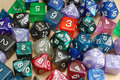 Set of Role Playing Dice Stock Images
