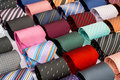 Set of rolled up neck ties Royalty Free Stock Photo