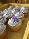 Romantic cup cakes for a wedding Royalty Free Stock Photo