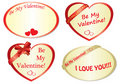 Set of romantic frames - vector Royalty Free Stock Photography