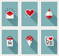 Set of romantic valentines day symbols vector illustration beautiful Royalty Free Stock Image