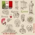 Set of Rome doodles