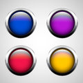 Set of round buttons Royalty Free Stock Photography