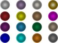 Set round buttons the of vector Royalty Free Stock Photography