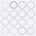 Set of round and circular decorative patterns Royalty Free Stock Photo