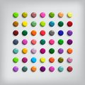 Set of round colorful buttons glossy glass for icons vector illustration eps Stock Photography