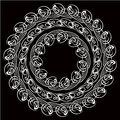 Set of round floral frame Stock Images