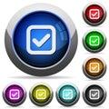 Checkbox button set Royalty Free Stock Photo