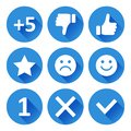 Set of round icons for evaluation. Vector illustration
