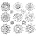 Set of Round Ornament Patterns Royalty Free Stock Photo