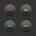 Set of round progress bar element with Royalty Free Stock Photo