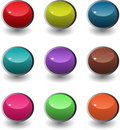 Set of round web buttons Royalty Free Stock Photo