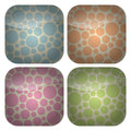 Set of Rounded Square Pastel Spots Icons Stock Image
