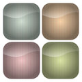 Set of Rounded Square Pastel Stripes Icons Royalty Free Stock Photo