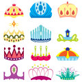 Set of  royal crown collection Royalty Free Stock Photo