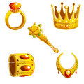 Set of royal jewelry Royalty Free Stock Images