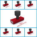 Set of rubber business stamps Royalty Free Stock Image