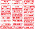 Set rubber stamps Stock Photo