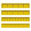 Set of rulers with scale and numbers. Vector illustration