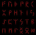 Set of runes Stock Photo