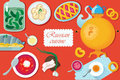Set Russian national food. illustration cuisine wit