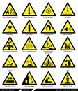Set of safety signs. Caution signs. Royalty Free Stock Photo