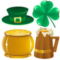 Set Saint Patrick Royalty Free Stock Images