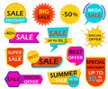 Set of sale banner design element tags Royalty Free Stock Photo