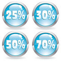 Set sale button Royalty Free Stock Photos