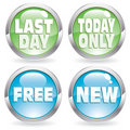 Set sale button Royalty Free Stock Photo