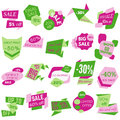 Set of Sale Discount Labels, Tags, Emblems. Web collection of stickers and badges for sale