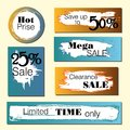 Set of sale, discount stickers and banners. Hot price , Limited time only, Mega