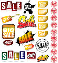 Set of SALE Graphics Royalty Free Stock Photo