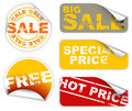 Set of sale labels Royalty Free Stock Photo