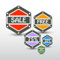 Set of sale labels vector Stock Image