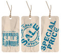 Set of sale paper tags Stock Photo