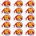 Set of Sale Stickers Stock Photo