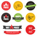 Set of sale stickers, elements and badges Royalty Free Stock Photo