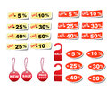 Set sale tags vector discount coupons Stock Image