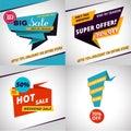 Set of sales bannes template design.