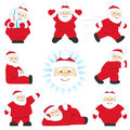 Set of santa Stock Photography