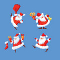 Set of Santa Claus Royalty Free Stock Photography