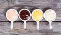 Set of sauces Royalty Free Stock Photo