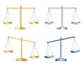 Set of scales four scale in four different colors illustration Royalty Free Stock Photos